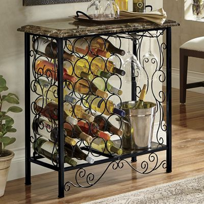 Generously Served Wine Rack