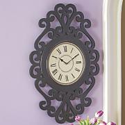 Black Scroll Wall Clock