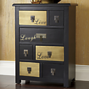 goldtone live love laugh cabinet