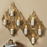 golden candleholder