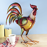 Colorful Standing Rooster Décor