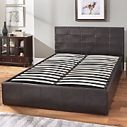queen easy lift storage bed