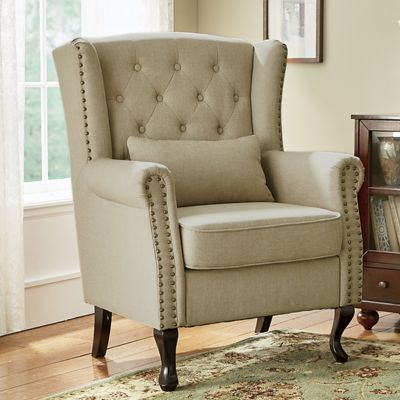 Queen Anne Wingback Chair From Midnight Velvet 738620