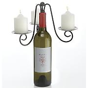scrollwork bottle candelabra