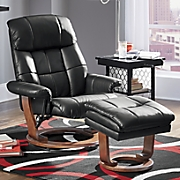 modern recliner with storage ottoman