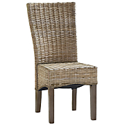 kubu gray woven seagrass parson chair