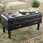 adventurer s trunk storage ottoman