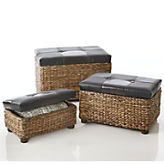 set of 3 nesting trunks