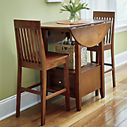 drop leaf drawer 3 piece dining set and 2 extra chairs