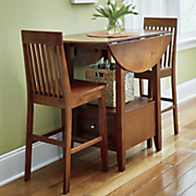 Drop-Leaf & Drawer 3-Piece Dining Set