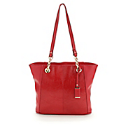 dakota leaf embossed leather tote by marc chantal