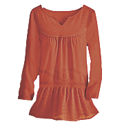 jolie femme embroidered tunic top