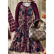 autumn glory mixed media dress