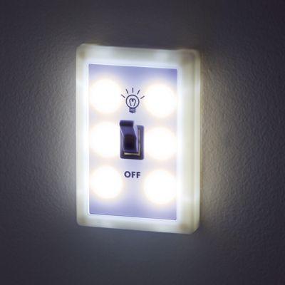Set of 2 LED Lightswitch Night-Lights