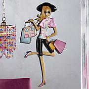 shopping lady wall art