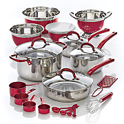 23 pc  metallic total kitchen cookware set by seventh avenue