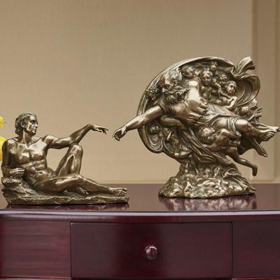 Hand-Carved Creation Figurine