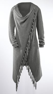 Fringe Crossover Sweater