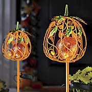 Solar Pumpkin Stake