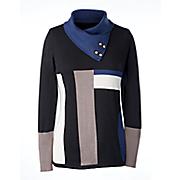 geo mix sweater