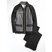 herringbone jacket and pant set