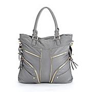 zipper detailed tote bag