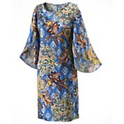 Tulip Sleeve Print Dress