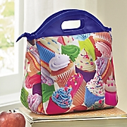 cupcakes insulated lunch tote