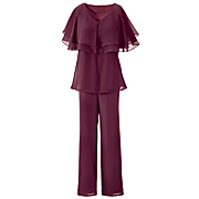 autumn rose triple tiered pant set