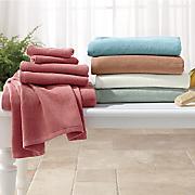 6 pc  spa velvet towel set