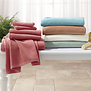 6 pc  spa velvet towel set