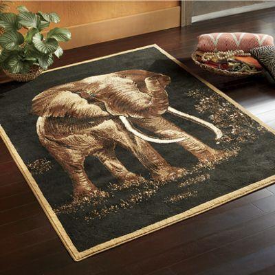 "Elephant Rug - 5' 3"" X 7' 2"""