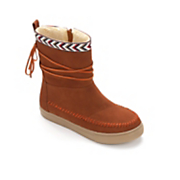 patchwork whipstitched boot by seventh avenue