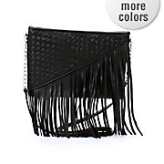 fringe weave cross body