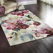 watercolor blossom rug