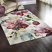 watercolor blossom rug