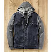 men s rugged warmth denim jacket