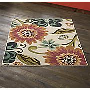 blushing floral rug