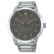 Men's Gray-Dial Bracelet Watch by Pulsar