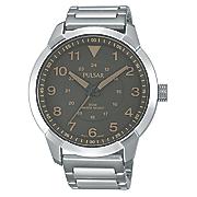 men s gray dial bracelet watch by pulsar