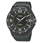 men s black sports watch by pulsar