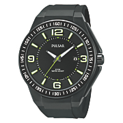 men s black sports watch by pulsar