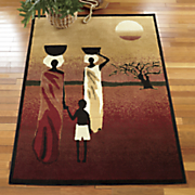 african sunset rug   5  3  x 7  2