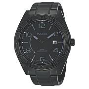 men s black gray dial watch by pulsar