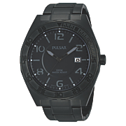 men s black gray dial watch by pulsar