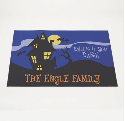 Personalized Haunted House Welcome Mat