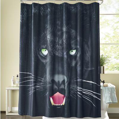 Savage Panther Shower Curtain