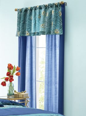 Embroidered Plumes Window Treatments
