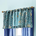 Embroidered Plumes Valance