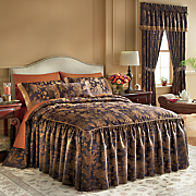 Estate Skirted Comforter Set, Pillow and Window Treatments